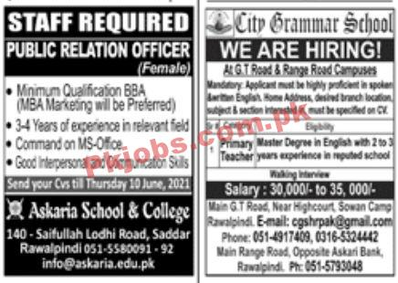 Jobs In Jang Newspaper Jobs 06 June
