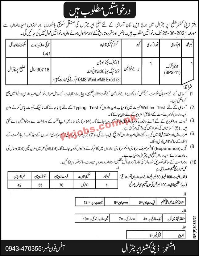 Deputy Commissioner Office Announced Management Pk Jobs 2021