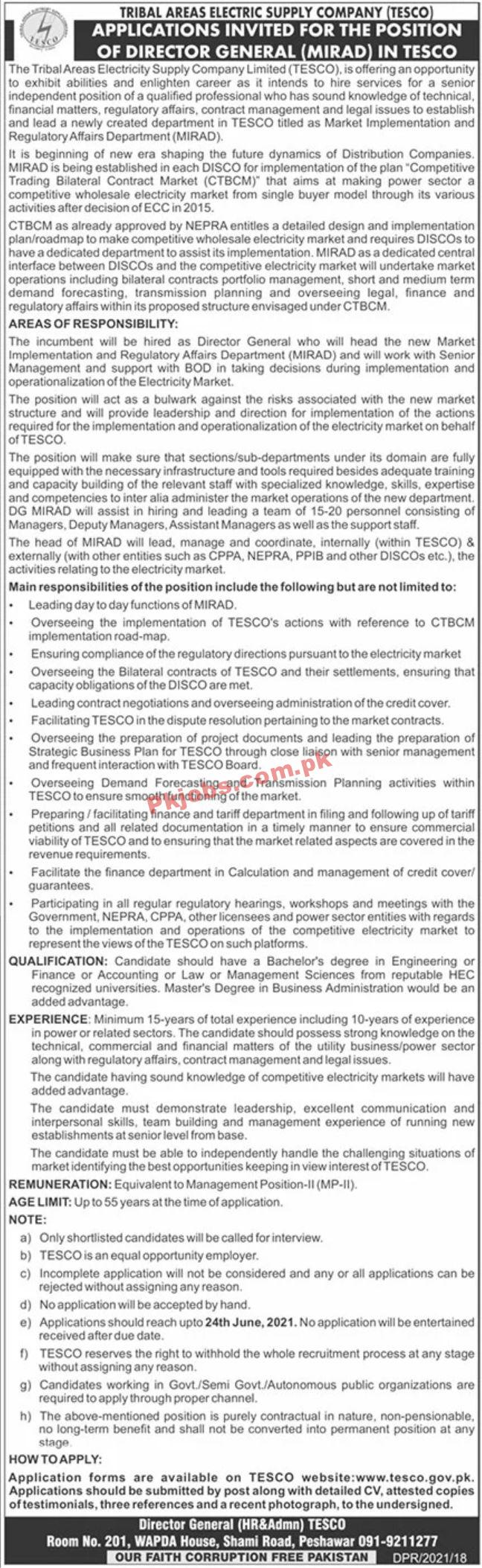 Jobs In Tribal Areas Electric Supply Company Tesco