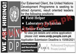 United Nations Development Programme (undp) Pk Jobs 2021