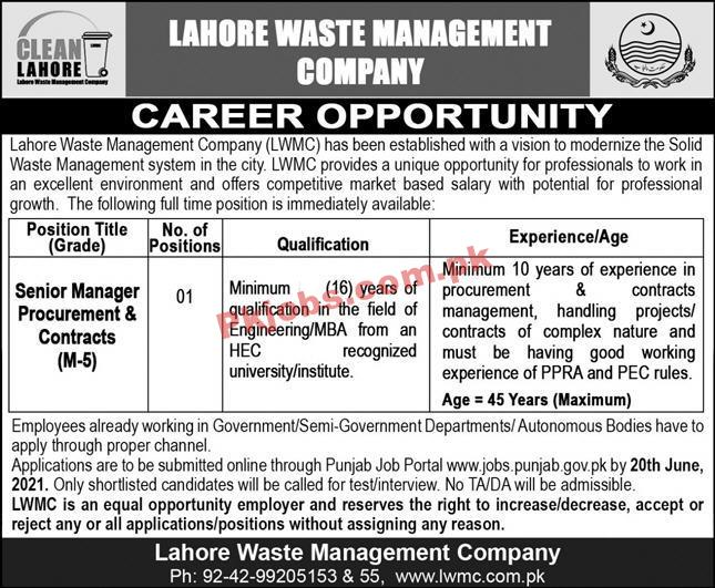 Waste Management Company Announced Management Pk Jobs 2021